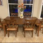 Conrad Grebel custom hand crafted Amish solid cherry wood Dining Set