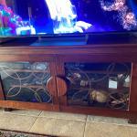 TV media cabinet Custom made maple wood