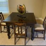 Antique Dining Table with 4 chairs-