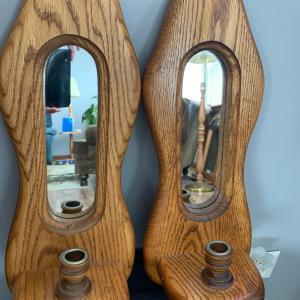 Photo of Amish Made Oak Sconces