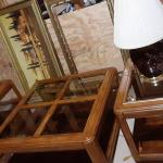 Coffee Table, Two End/Side Tables & Two Lamps