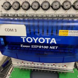 Photo of Toyota ESP9100 NET 15 needle Commercial Embroidery Machine