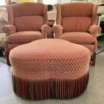 Sherrill Chairs and Ottoman