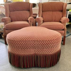 Photo of Sherrill Chairs and Ottoman