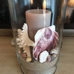 Shell Pillar Candle Holder