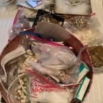 J980 Lot of Tiaras , Lace, Feathers, Headband making supplies