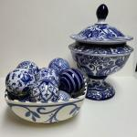 Lot 127: Blue and White Home Decor (Pier One and More)