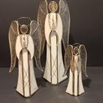 Lot 128: Stained Glass Angels (Tealight holders)