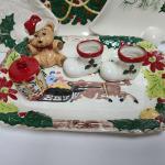 Lot 126: Vintage Ceramic Holiday Serving Pieces.